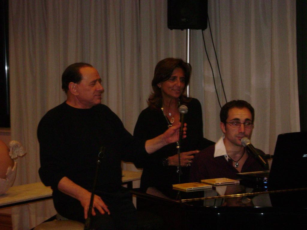 con il Presidente Berlusconi nel 2008